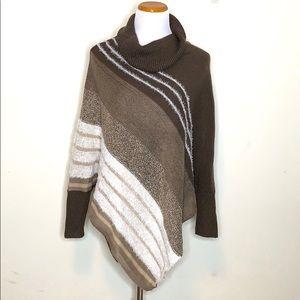 Dress Barn Brown Asymmetrical Sweater (S22)